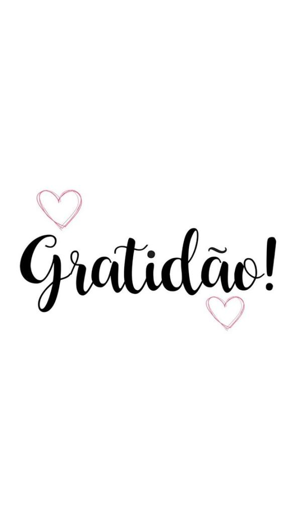 Frase perfeita de gratidão.