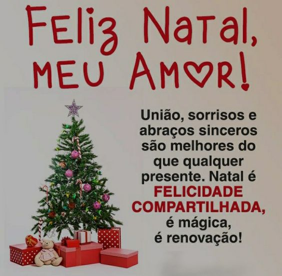 Feliz Natal meu bem!