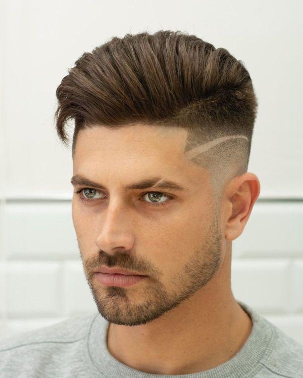corte masculino desenhado alto
