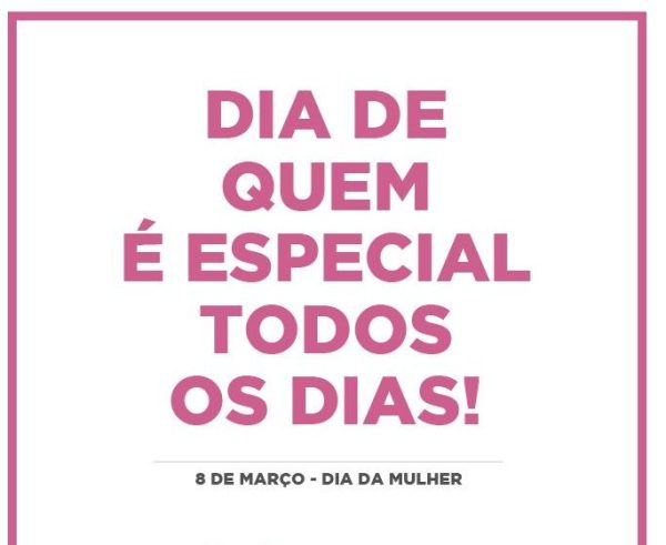 Feliz dia da mulher especial
