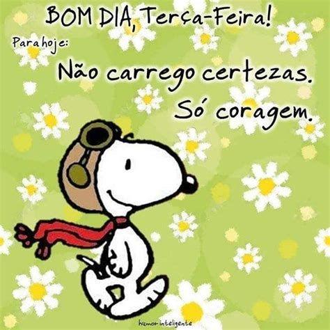 Bom dia Terça-feira Snoopy