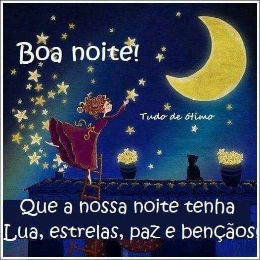 boa noite com a lua