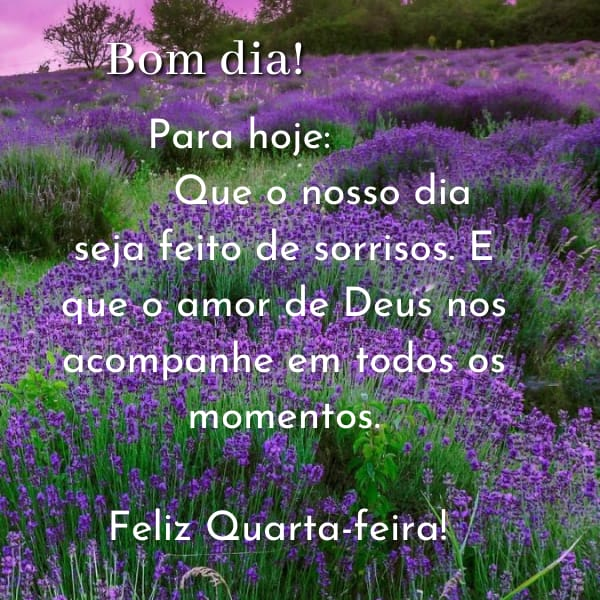 Feliz quarta-feira cheio do amor de Deus