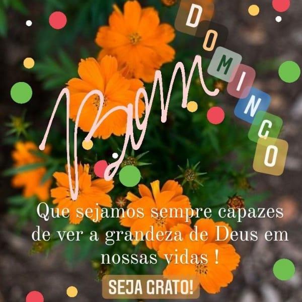 Seja grato pela grandeza de Deus e pelo abençoado domingo