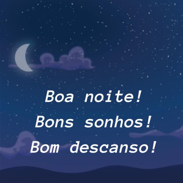 bons sonhos na sua noite bela
