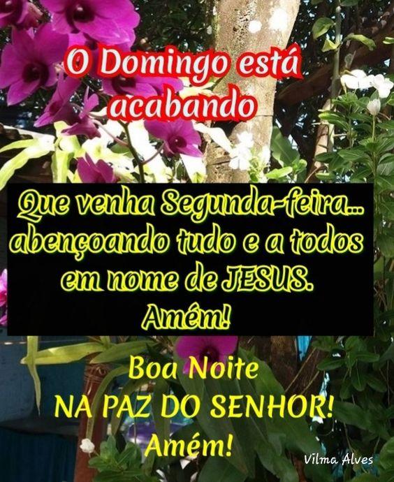 Boa noite Domingo na paz do Senhor