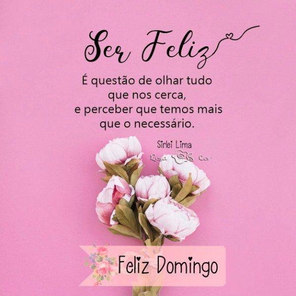 Feliz domingo para ser feliz