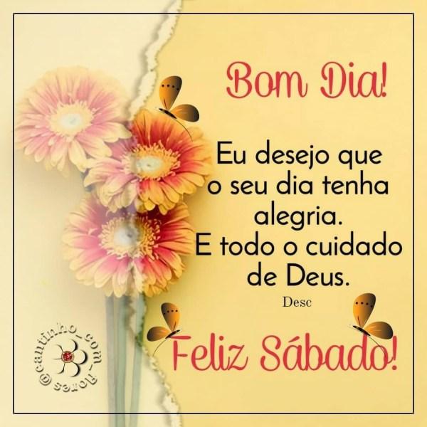 feliz sábado com todo o cuidado de Deus