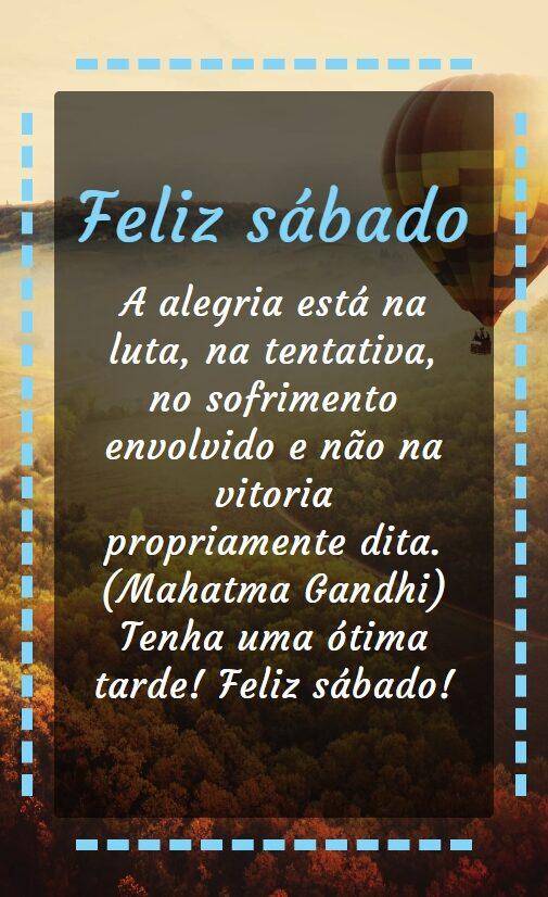 Feliz sábado com alegria