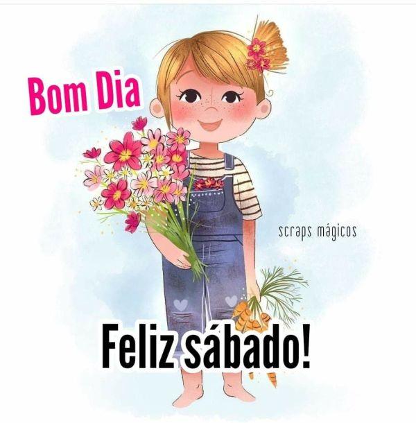 Feliz sábado com flores lindas