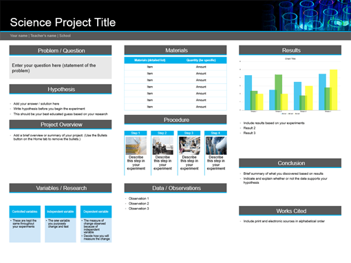 science project templates office com
