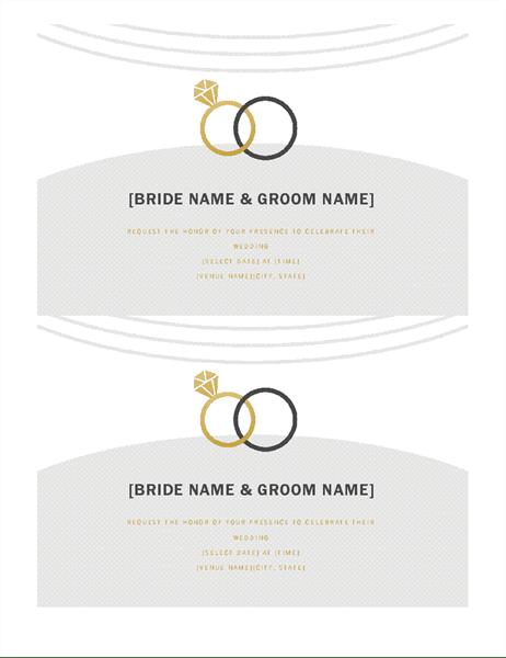 Wedding Invitations Deco Design 2 Per Page