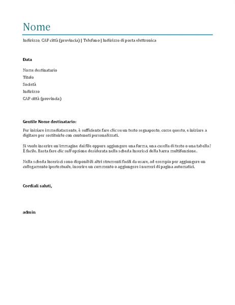 Lettera Di Presentazione Blu