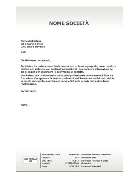 Carta Intestata Aziendale Schema Semplice