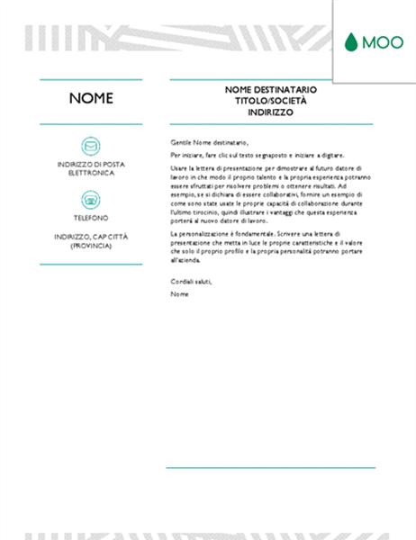 Lettera Di Presentazione Creativa Progettata Da Moo