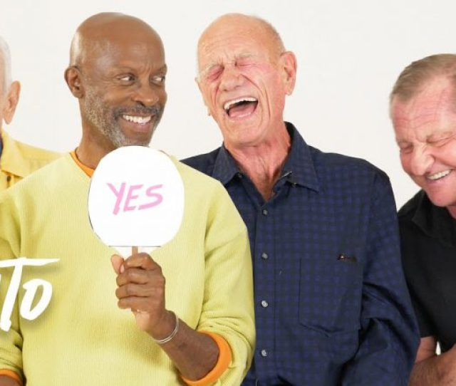 Some Funny Older Gay Gents Discuss Their Sexual Habits In A Hilarious Round Of Never Have I Ever For Into Tv Check It Out Above