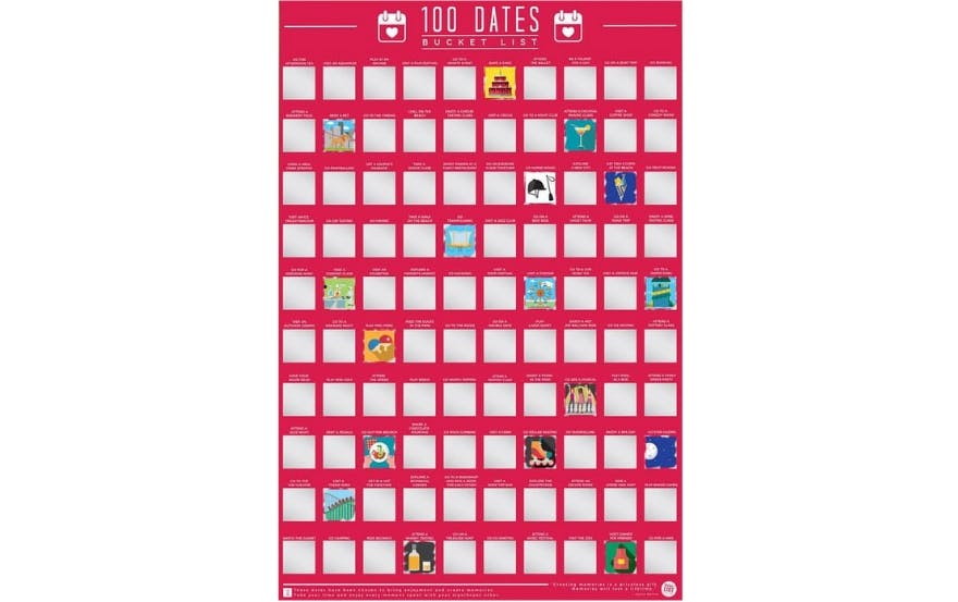 Valentine's Day Gift #11: 100 Dates Bucket List Poster