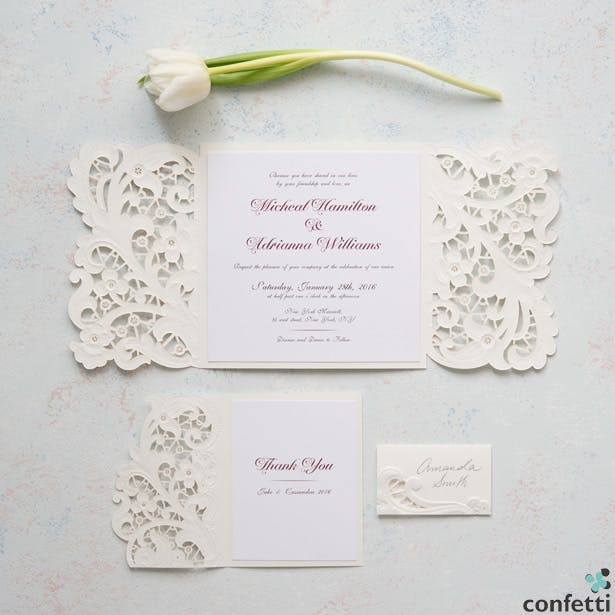 Vintage Lace Invitations And Wedding Confetti Co Uk