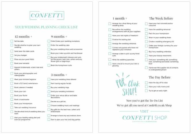 The Ultimate Wedding Planning Checklist How To Plan A