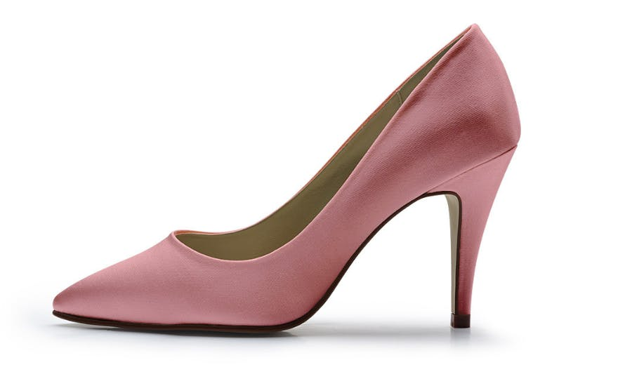 Dusty Pink Court Shoes for Brides by Rainbow Club