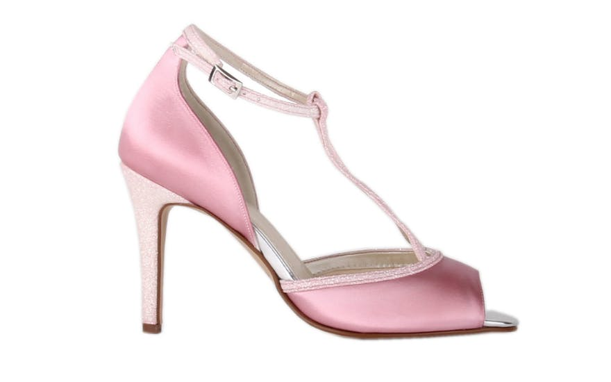 Two Tone Pink Wedding Shoes by Rainbow Club