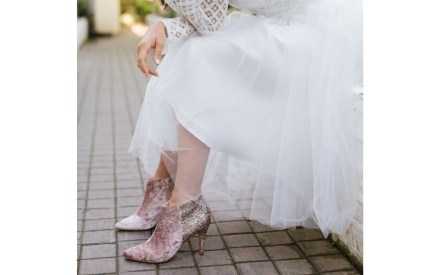 Pink Glitter Ankle Boots by Rachel Simpson
