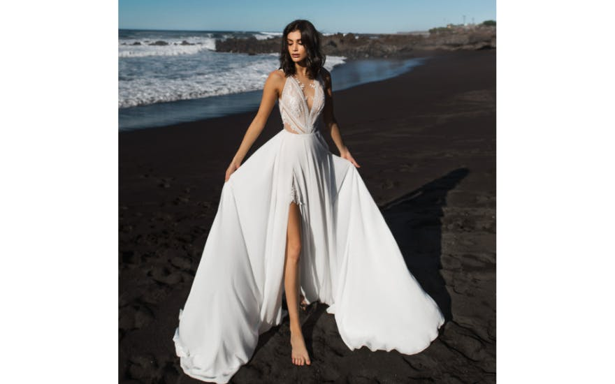 Alternative Wedding Dress with Cut Out Panels by Rara Avis