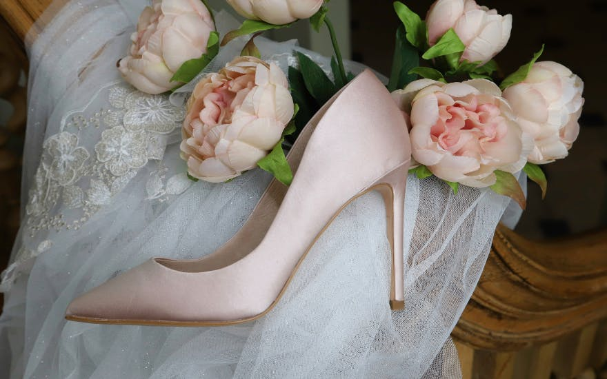 Light Pink High Heeled Shoes for Weddings by The Perfect Bridal Company