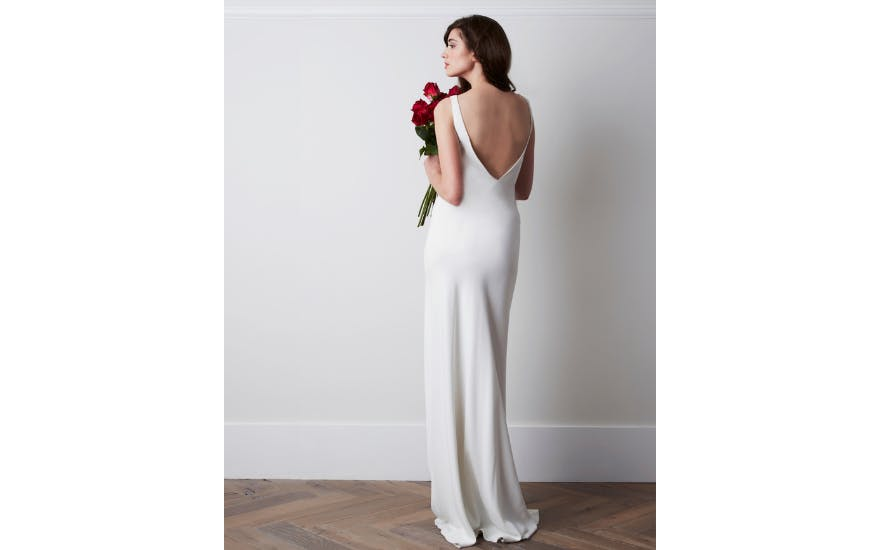 Simple Wedding Dress with Low Back by Charlie Brear