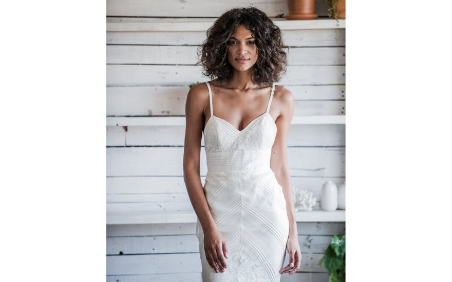 Strappy Beach Wedding Dress by Loulette Bride
