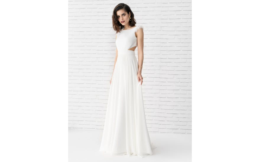 Cut Out Wedding Dress by Marylise
