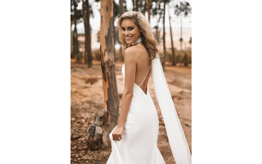 Crossover Back Wedding Dress by Vagabond