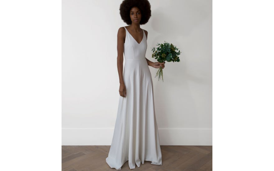 Simple Elegant Wedding Dress by Charlie Brear