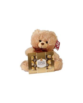 Small Bear with Small Ferrero Rocher