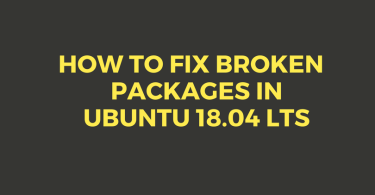 How To Fix Broken Packages In Ubuntu 18.04 LTS
