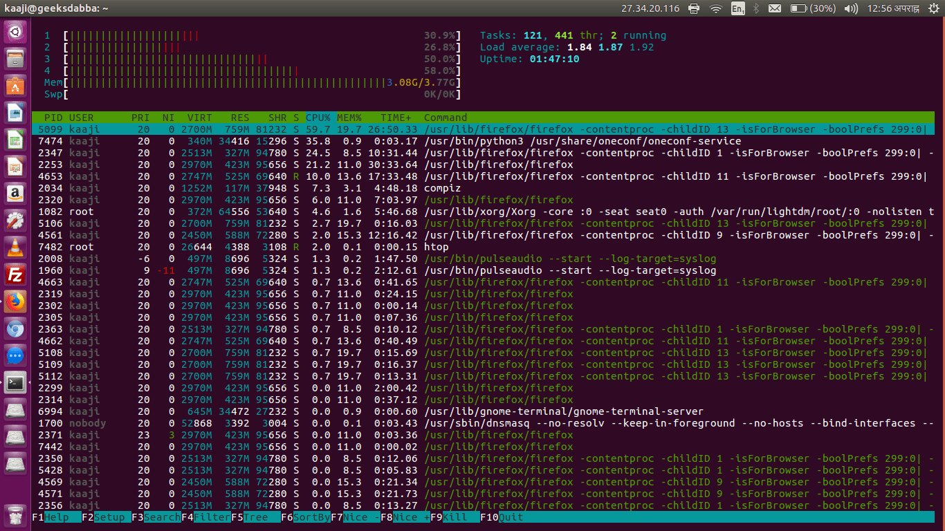 Tutorial To Find Top CPU Consuming Processes In Linux