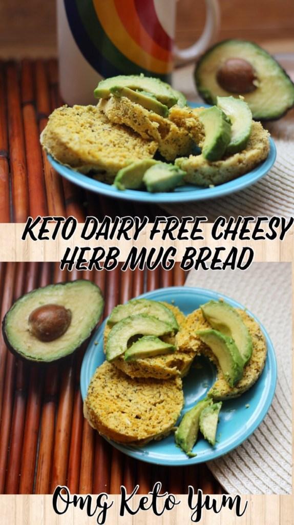 dairy free, grain free, keto mug bread