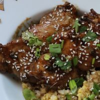 Salty and Sweet Chicken with Balsamic, Lime and Cilantro sauce