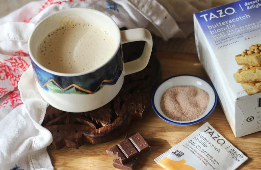 Butterscotch Blondie Tea with Fat Keto and Low carb