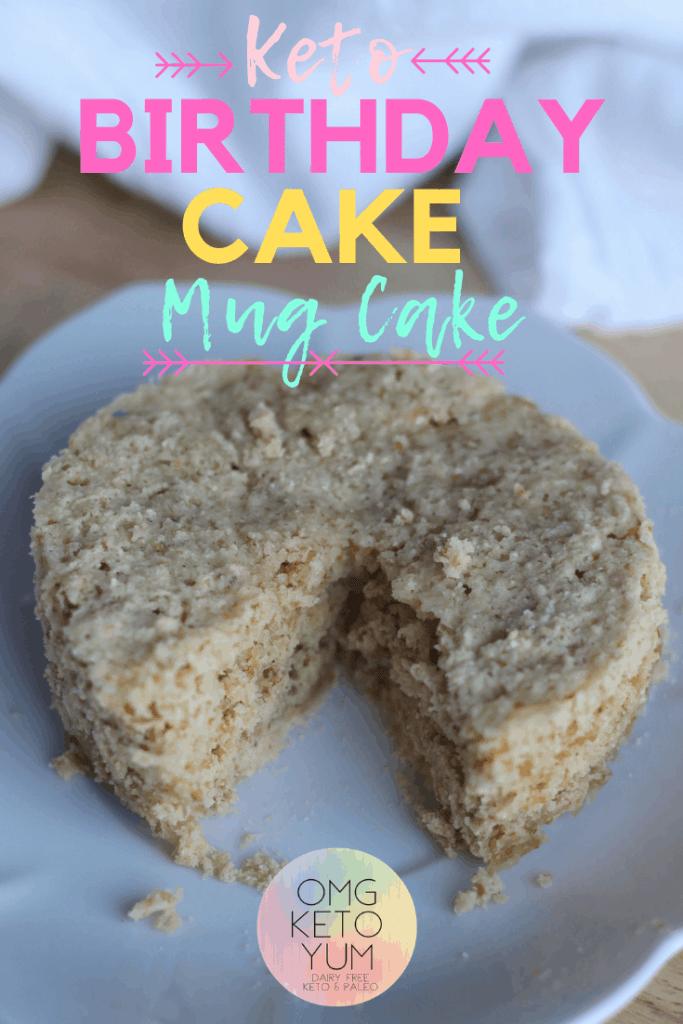 Keto Birthday Mug Cake