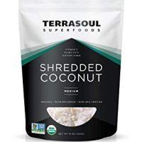 Terrasoul Superfoods Organic Shredded Coconut, 1 Lb - Medium Size   Perfect for Baking & Making Fresh Coconut Milk