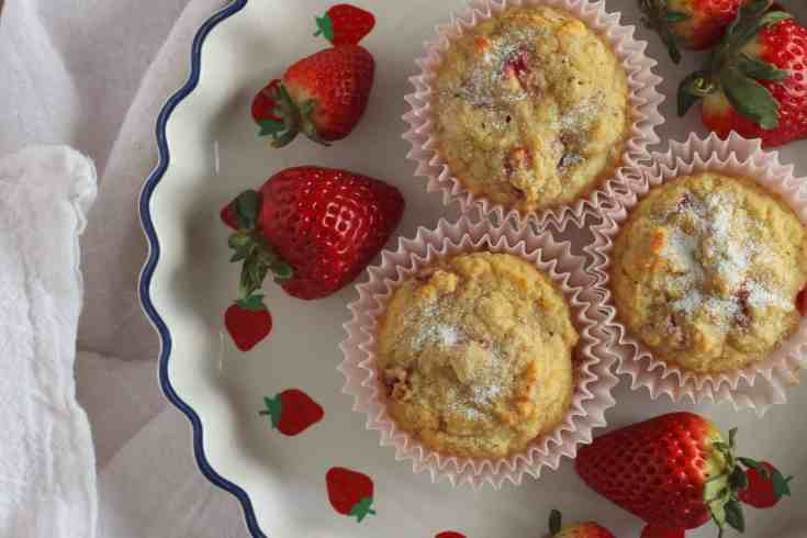 Low Carb Strawberry Muffins