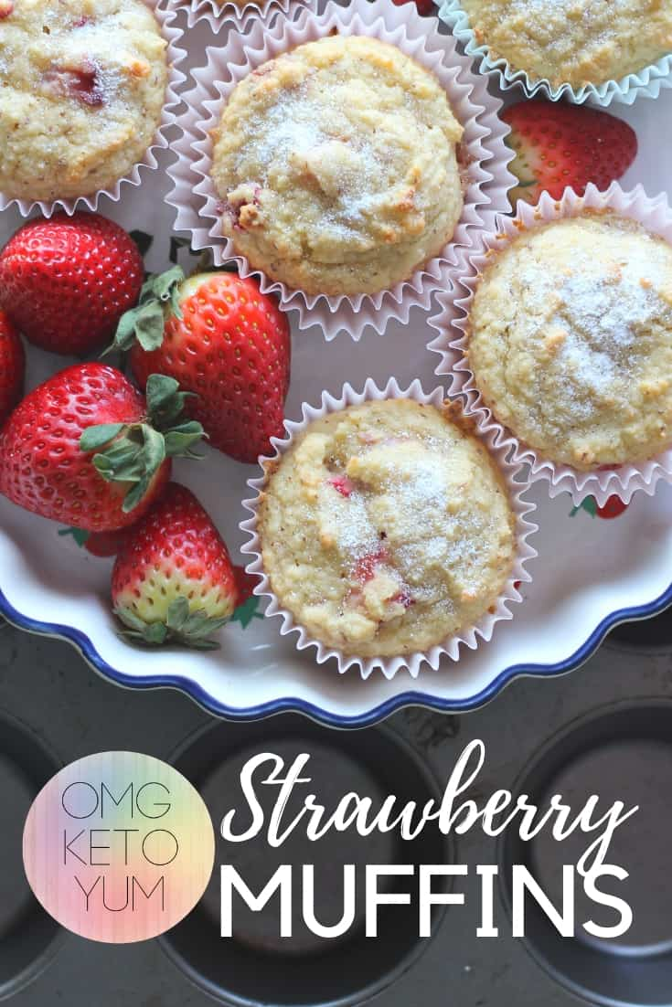 Low Carb Strawberry Muffins are easy to make and delicious. You will never believe these are low carb - they're that good.