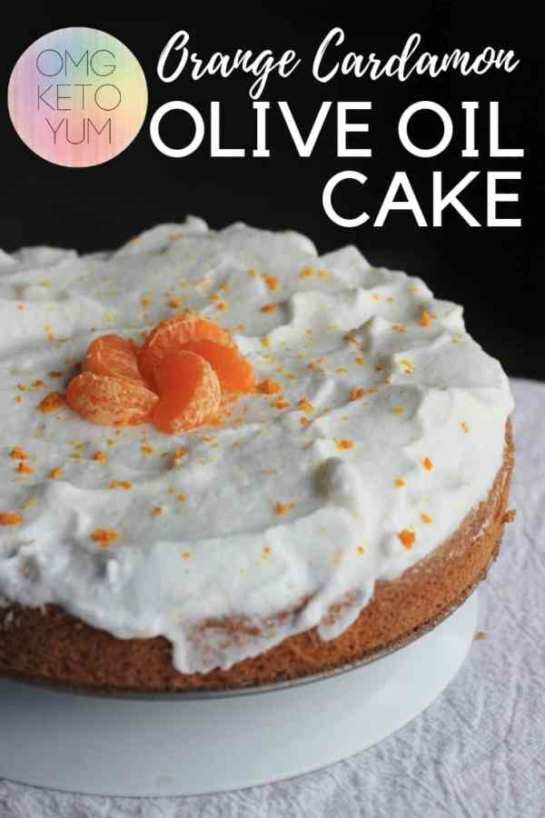 A keto olive oil cake flavored with Orange and Cardamon.