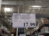 Costco No Iron Shirt Price Sign
