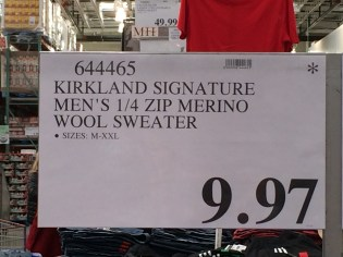 Costco Sweater Sign