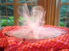 Shower gift wrapped in tulle
