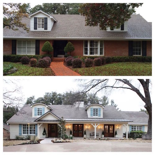 This Is A Gorgeous Transformation Of Brick Home That Has Been Painted And Lightened Up