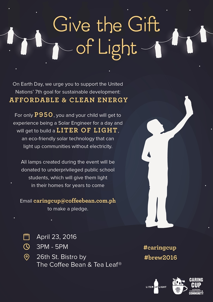 TCBTL MAR2016 Caring Cup Event - Give the Gift of Light Comm Board-01