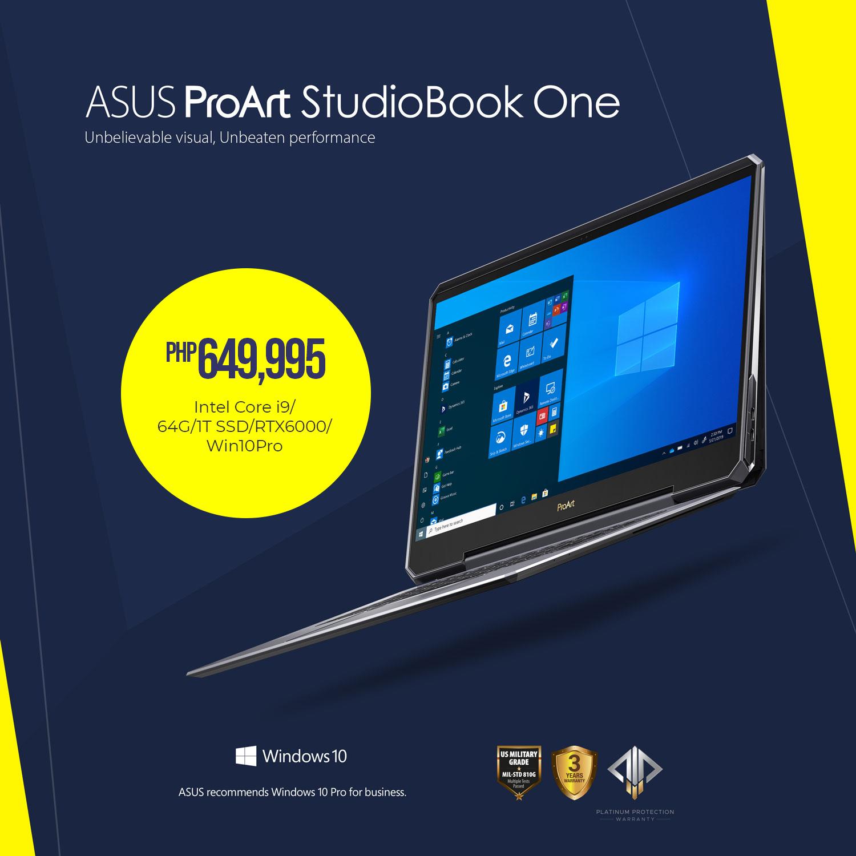 ASUS ProArt StudioBook One - Php 649,995